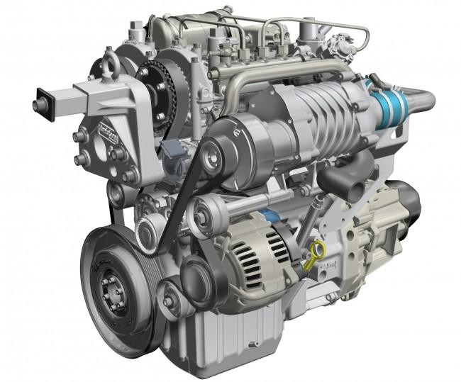 A Renault 730 köbcentis kéthengeres kétütemű dízelét turbó és kompresszor is lélegezteti, létük a működéshez is elengedhetetlen, mert a motor nem tud szívni. A csúcsváltozat 68 LE-s, a kipufogószelepeket szíjhatású vezérműtengely mozgatja. Mivel a dugattyúk a négyütemű kéthengeresekéivel ellentétben itt nem egyszerre, hanem 180 fokos elékeléssel járnak, a kiegyensúlyozás is kisebb feladat
